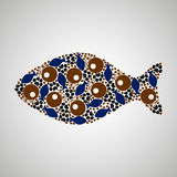 Pattern colored fish. Pattern fish, cat, colorful, vector format Stock Image
