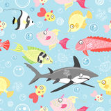 Pattern of colored fishes Royalty Free Stock Image