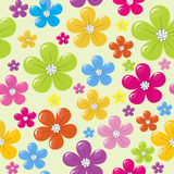 Pattern with colored flowers Royalty Free Stock Photo