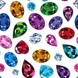 Pattern of colored gemstones Stock Image