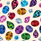 Pattern of colored gemstones Stock Photography