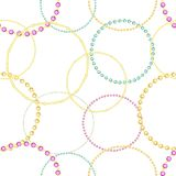 A pattern of colored gemstones of various cuts. Colored gems of different cut. Pattern with colorful gems. A set of diamonds. Bracelets gold and silver. Stylish stock illustration