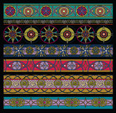 Pattern colored, geometrical elements set Royalty Free Stock Images