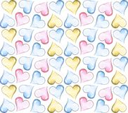 Pattern with colored hearts. For postcards and wrapping paper vector illustration