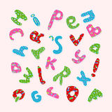 Pattern with colored letters Stock Images