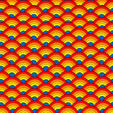 Pattern with colored rainbows Royalty Free Stock Photo