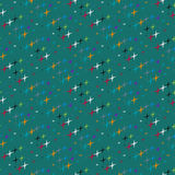 Pattern of colored stars Stock Photos