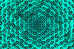 Pattern of colored tubes, repeated square elements, black hexagons and surfaces. Abstract background. 3D rendering illustration stock illustration