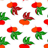 Pattern with colored turnip Royalty Free Stock Photo