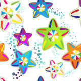 Pattern with colored umbrellas Stock Image