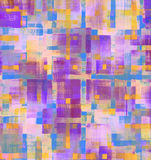 Pattern of colorful abstract geometric shapes Stock Photography