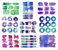 Pattern of colorful abstract geometric shapes Stock Images