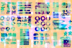 Pattern of colorful abstract geometric shapes Stock Photo