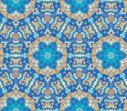 Pattern of colorful abstract mandala shapes 19 Stock Image