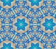Pattern of colorful abstract mandala shapes 19. Seamless pattern of colorful abstract mandala shapes stock illustration