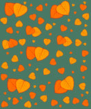 Pattern of colorful autumn leaves Stock Image