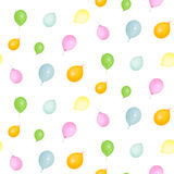 Pattern of colorful balloons isolated Royalty Free Stock Photos