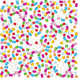 Pattern of colorful bead Stock Images