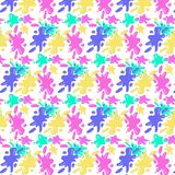 Pattern of colorful blots on a transparent background vector illustration