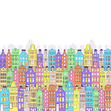 Pattern with colorful building Royalty Free Stock Photos