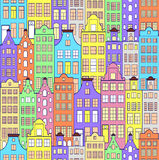 Pattern with colorful building Stock Image