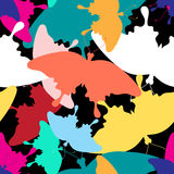 Pattern of colorful butterflies Royalty Free Stock Photography