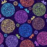 Pattern with colorful christmas ball Royalty Free Stock Image