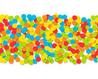 Pattern of colorful confetti. Festive background. Vector Stock Images