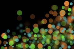 Pattern of colorful decoration lights. Royalty Free Stock Photo