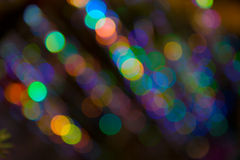 Pattern of colorful decoration lights Royalty Free Stock Images
