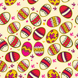 Pattern with colorful Easter eggs. Royalty Free Stock Photography