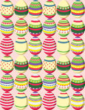 Pattern of colorful easter eggs. Stock Image