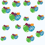 Pattern colorful Easter eggs Stock Photo