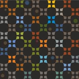 Pattern colorful elements on a black background. Royalty Free Stock Photography