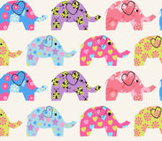 Pattern with colorful elephant Stock Photos