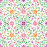 Pattern-17. Colorful floral seamless background pattern, spring theme stock illustration