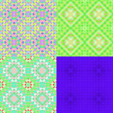 Pattern colorful geometric green circles seamless. vector illust Stock Photos