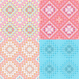 Pattern colorful geometric  pink circles seamless. vector illust Royalty Free Stock Photography
