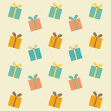 Pattern of colorful of gift  boxes Stock Image