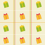Pattern of colorful of gift  boxes Stock Photography