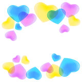 Pattern with colorful hearts Royalty Free Stock Images