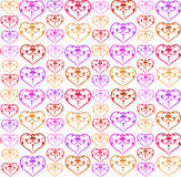 Pattern with colorful hearts Royalty Free Stock Photos