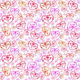 Pattern with colorful hearts Royalty Free Stock Photo