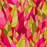 Pattern colorful leaves. Seamless vector pattern. Colorful leaves. It can be used for printing on packaging, bags, cups, laptop, etc. Vector illustration Stock Photos