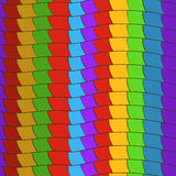 Pattern of colorful lines Stock Images