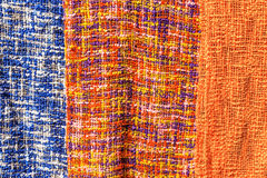 Pattern of Colorful Neck-clothes, Lunagprabang. Pattern of Local Colorful Neck-clothes, Luangprabang Laos Stock Photography