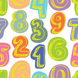 Pattern colorful numbers Royalty Free Stock Photos