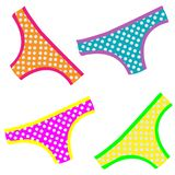 Cheeky pattern of colorful panties royalty free illustration