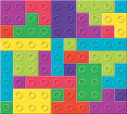 Vector pattern of colorful plastic blocks. Vector background pattern of colorful plastic blocks, toy game Stock Images