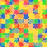 Pattern of colorful puzzle Stock Photo